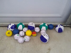 Lot of assorted inflatable balls and soft balls NEW London Ontario image 1