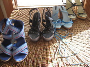 Lot 4 SANDALES Bebe, Mia, Sisley – SANDALS Wedge+ Gr : 6 – 6 1/2