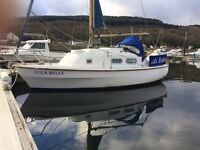Yacht. 21ft Westerly W21 sailboat, twin keel benefiting from both a roller furling mainsail and jib