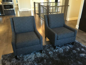 SHOWHOME FURNITURE- PAIR OF SIDE CHAIRS FROM COTTSWOOD INTERIORS