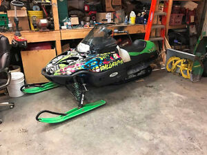 2001 Arctic Cat Zr440 Running And Driving
