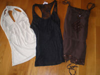Camisole, t-shirt, legging, femme, small, medium