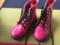 Pink patent leather DM style children's boots size 13