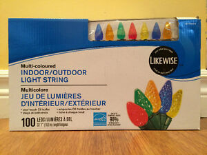 """Christmas indoor/outdoor lights - 100 LEDs, 33 ' 7 """" / 10.3 m"""