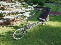 RANS Stratus recumbent biciycle.