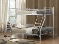 CASH ON DELIVERY ***BRAND NEW !! Triple Sleeper Metal Bunk Bed Frame and Mattress