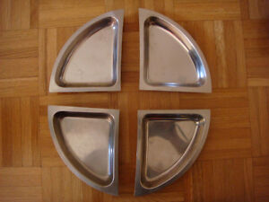 Stainless steel snack dish set