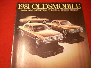 1981 Oldsmobile sales brochure