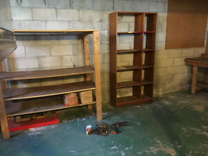 Shelving and tool bench