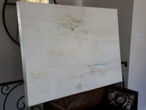 Large, modern abstract acrylic on canvas painting