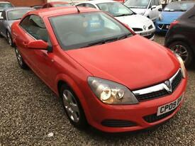2009 09 Red Vauxhall Astra 1.9CDTi 16v Twin Top