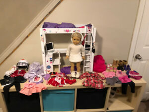 AMERICAN GIRL DOLL - PLUS LOFT BED - PLUS OUTFITS & ACCESSORIES