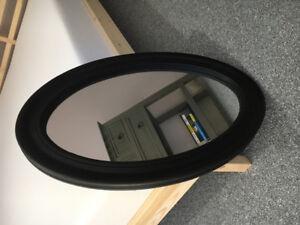 Dark brown framed mirrors