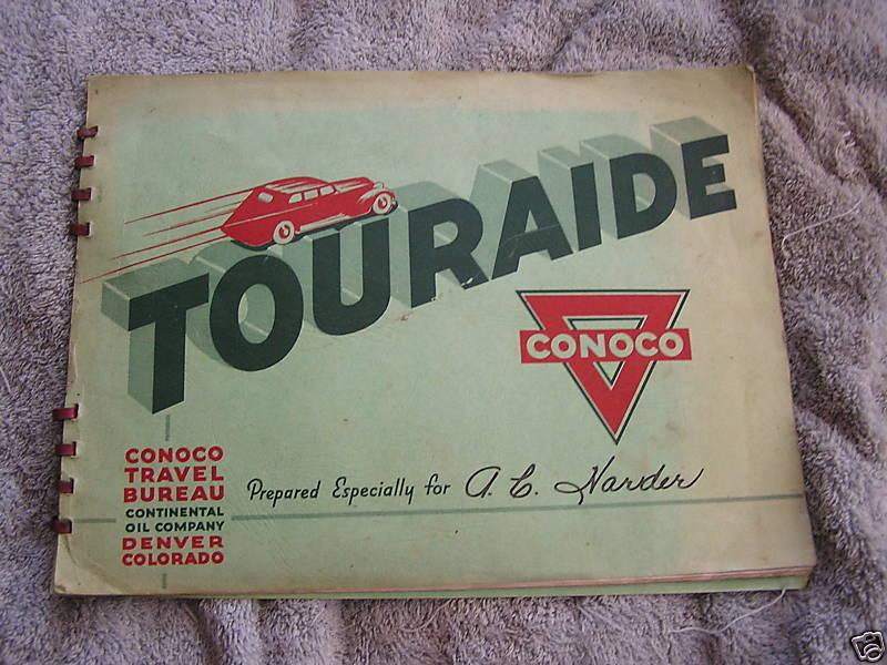 1938 Conoco Touraide Oklahoma Kansas Nebraska