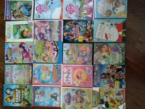 Children DVD's and CD's at $2.00 each