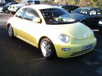 2001 VOLKSWAGON BEETLE 1.6 PETROL, MANUAL, YELLOW, AIRCON