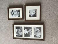 Brown IKEA photo frames