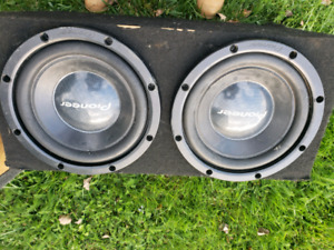 2, 12 inch pioneer subs in a duel ported box