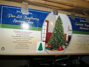 Feel Real Pre-lit Bayberry Spruce Tree and Decorations