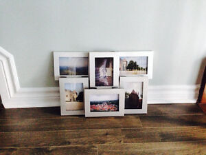 Set of 6 Attached Picture Frames