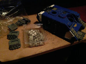 Warhammer 40K Land Raider Crusader w/ model sheets