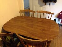 Table and chairs £50