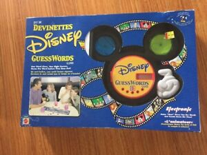 Disney Guess Words game ages 6 - Adult