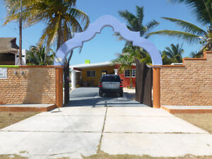home on the beach chelem yucatan mexico