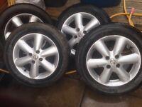 Nissan note alloys good tyres 4 stud £150