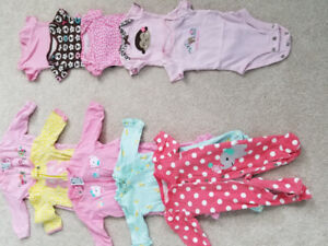 Newborn girl onesies and sleepers