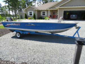 14 ft Princecraft with trailer and motor