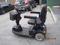 invacare Pegasus 3 wheel mobility scooter  wIith charger , front
