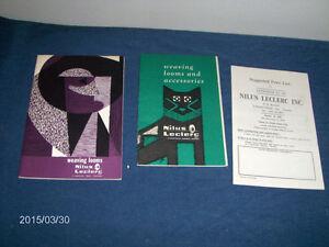 3 NILUS LECLERC WEAVING LOOMS CATALOGUES-1960'S-VINTAGE!