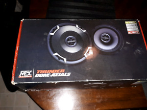 "MTX Thunder65 Thunder Dome Series 6-1/2"" 2-way  speakers new"