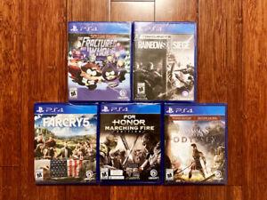 5 Excellents Jeux - PS4 - Neufs Emballés