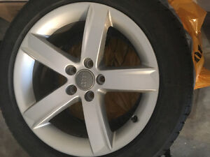 Tires and Audi rims for sale