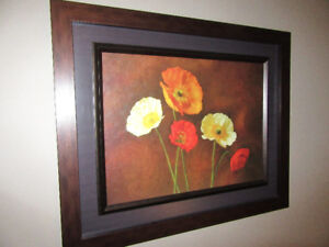 Frame with beautiful flower print
