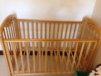 Cossatto cot and IKEA mattress for sale