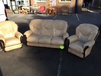 Settee and chairs. Sofa. Suite.