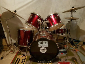 CB Drums / SABIAN ride 9 pc kit $450