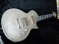 ESP ECLIPSE II SILVER SPARKLE LIMITED EDITION (MINT LIKE NEW)