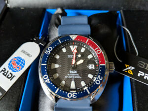 SEIKO SRPC41 TURTLE MINI PADI PEPSI BEZEL WATCH