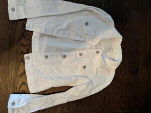 girls white jean jacket size 14 new