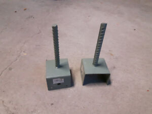 Post Holders 4X4 - for concrete. Deck or fence.  NEW