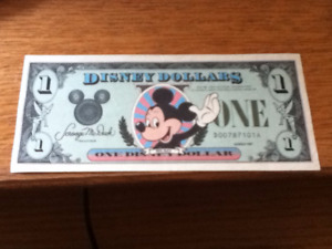 Disney World Orlando Florida Dollar 1st D series issue 1987 OBO