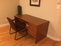 REAL HARDWOOD DESK