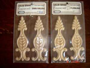Collection of Embossed Decorative Ornamental Mouldings/Appliques