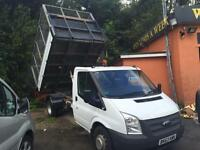 2013 63 Ford Transit 2.2TDCi 125PS 350 LWB DRW TIPPER DROPSIDE CAGED AREA