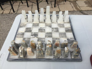 Marble chess game set