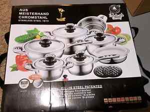 German chef quality high end pot set, brand new unopened